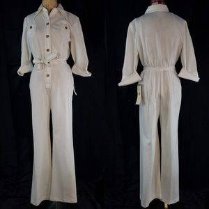 New with tags white jumpsuit from the 1970s!